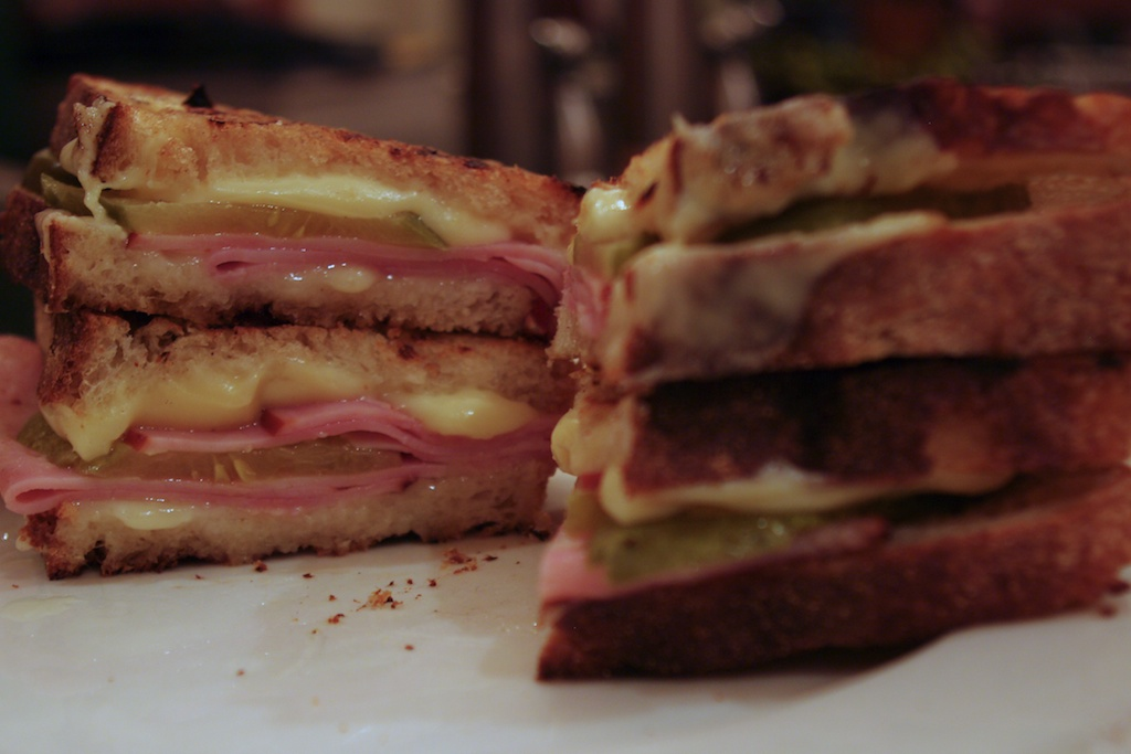 Skillet-Grilled Ham and Cheese Sandwich
