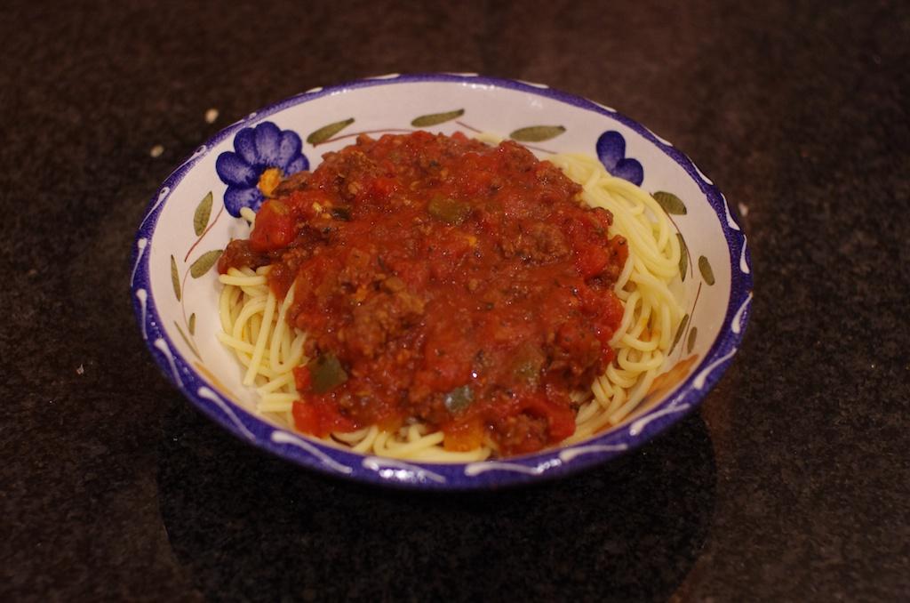 Spaghetti plated