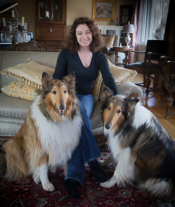 "Emily Kemme, Author of Feeding the Famished and the novel ""In Search of Sushi Tora."" Pictured here with Flopsy and Mopsy."