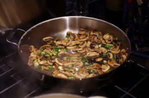 Saute mushroom