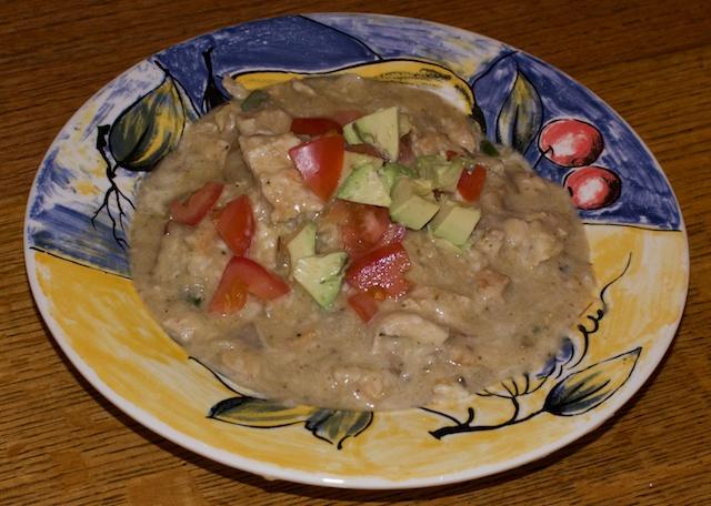 Grilled Chicken and Fennel Enchilada Stew