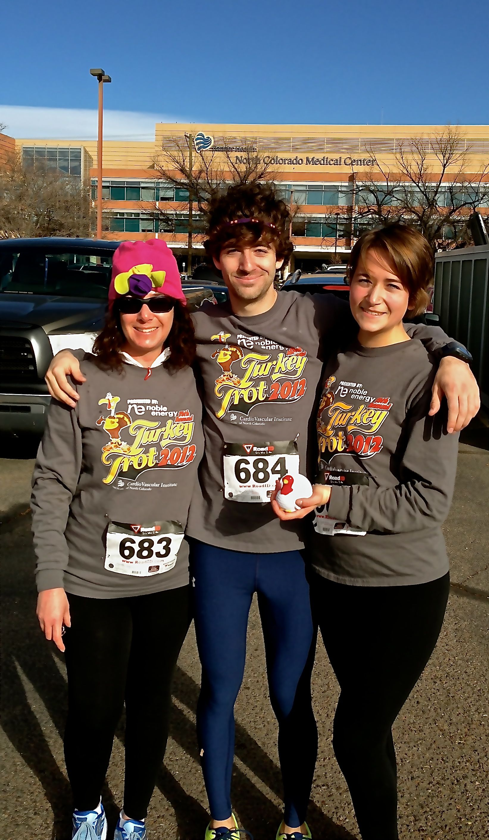 The First Annual Two Brats + A Mom 5K Turkey Trot. Five months ago, I couldn't run a tenth of a mile. It's amazing where your kid's suggestion might lead.