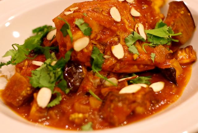 moroccan chicken with roasted eggplant summer is the eggplant and