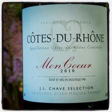 Mon Coeur Cote-du-Rhone blend of Syrah and Grenache