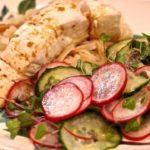 Halibut Cucumber Salad