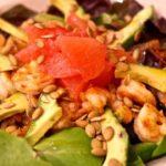 Shrimp avocado grapefruit salad