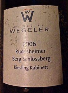 Wegeler 2006 Riesling