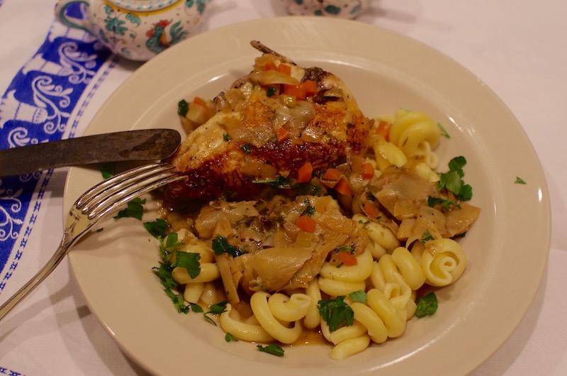 Chicken with Artichokes and Tarragon
