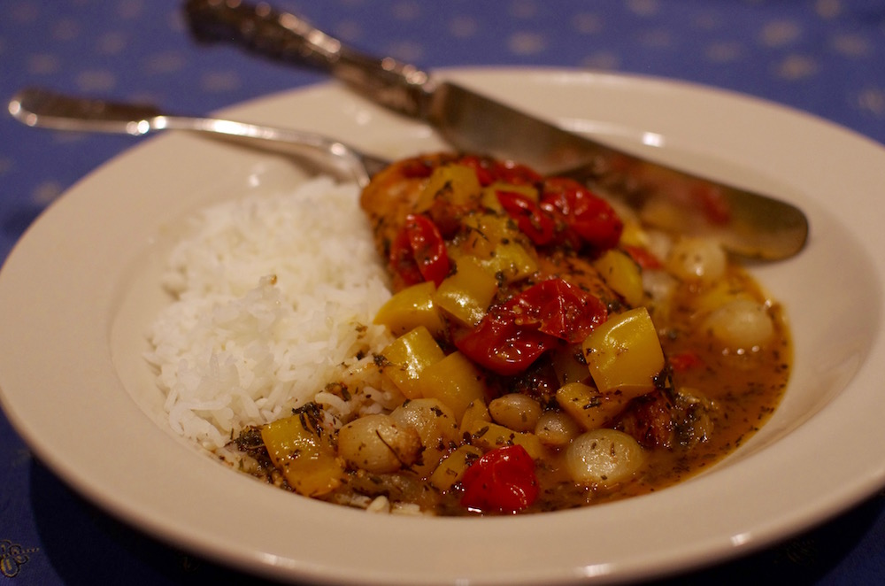 Chicken Provencal with Tomatoes and Peppers