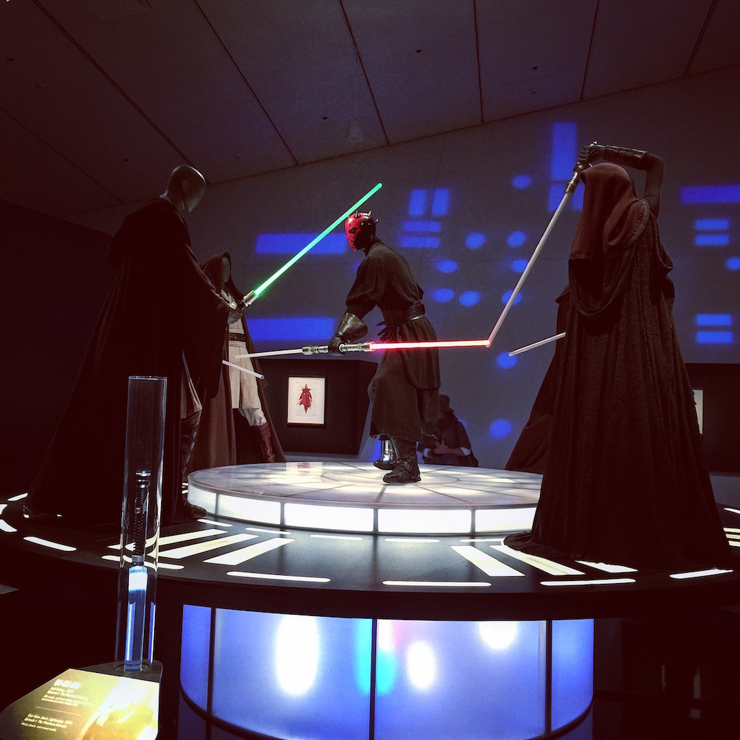Light saber battle in Star Wars