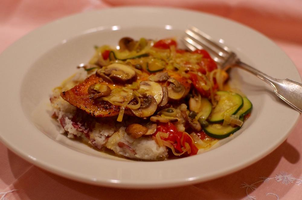 Crispy Salmon Piccata