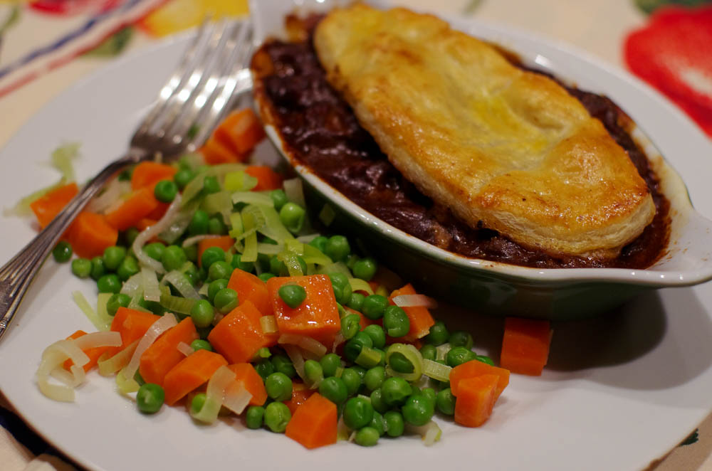 Steak, Ale and Mushroom Pie