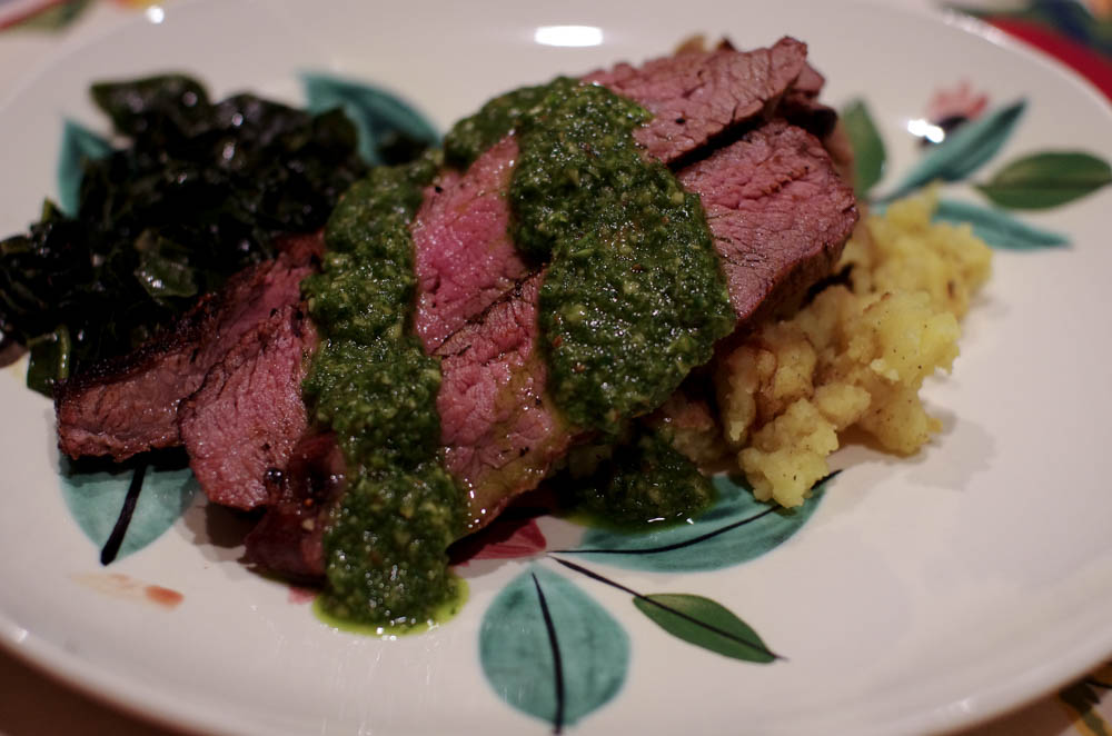 Grilled Flank Steak with Chimichurri Sauce