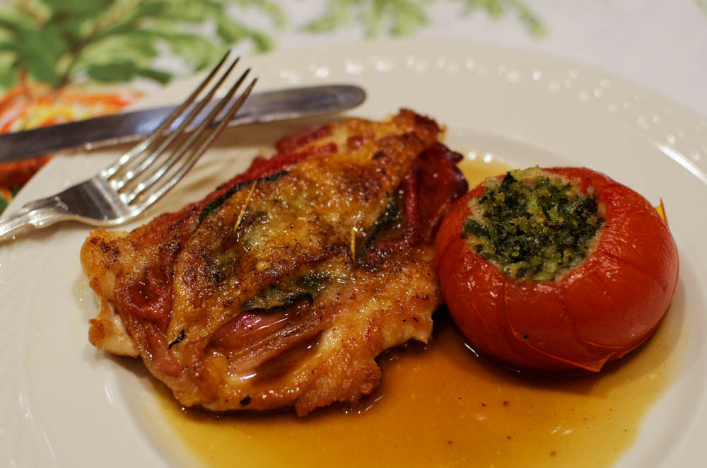 spinach stuffed tomatoes