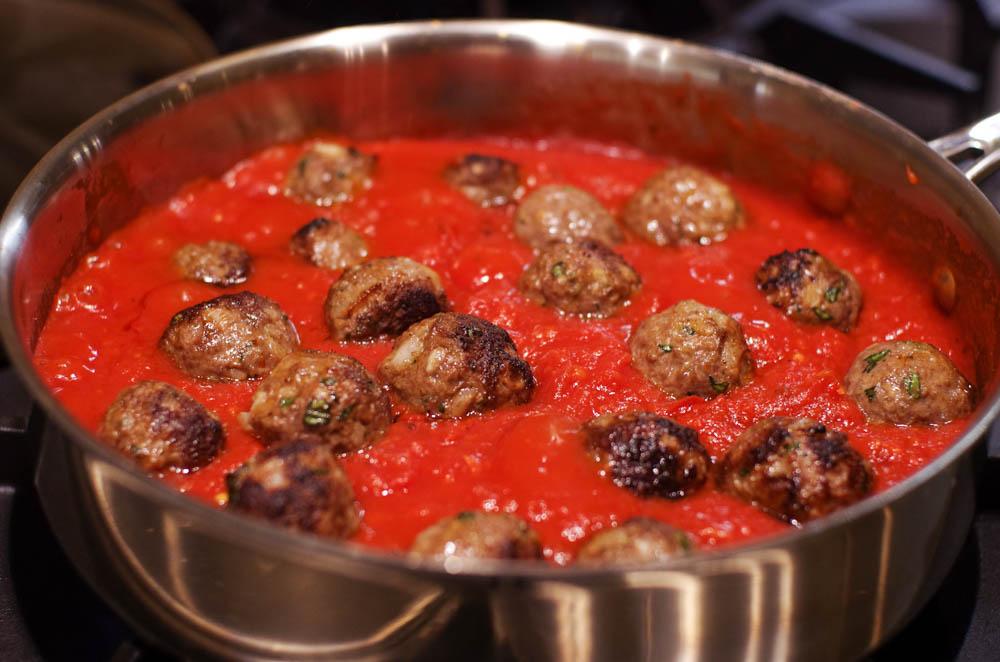 Lamb Meatballs with Harissa Tomato Sauce