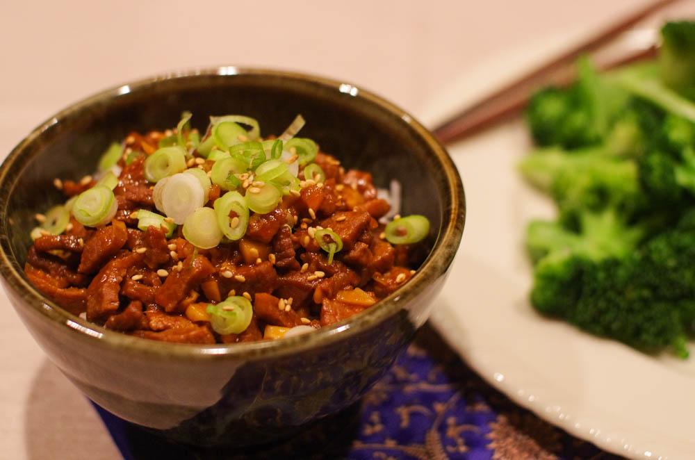 Korean beef with gochujang sauce