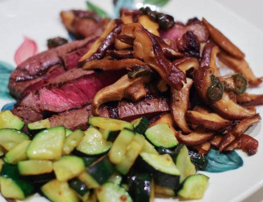 steak shiitake mushrooms