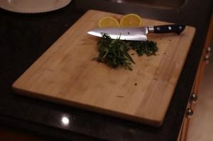 Chopping Taragon