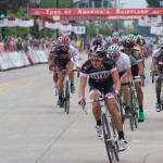 The Giro d'Grafton, part of the USA CRIT series, featured professional racers on a .85 mile circuit through the quiet hamlet of Grafton.