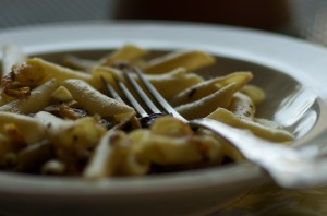 Recipe for Grilled Chicken Pasta with Eggplant and Mushrooms
