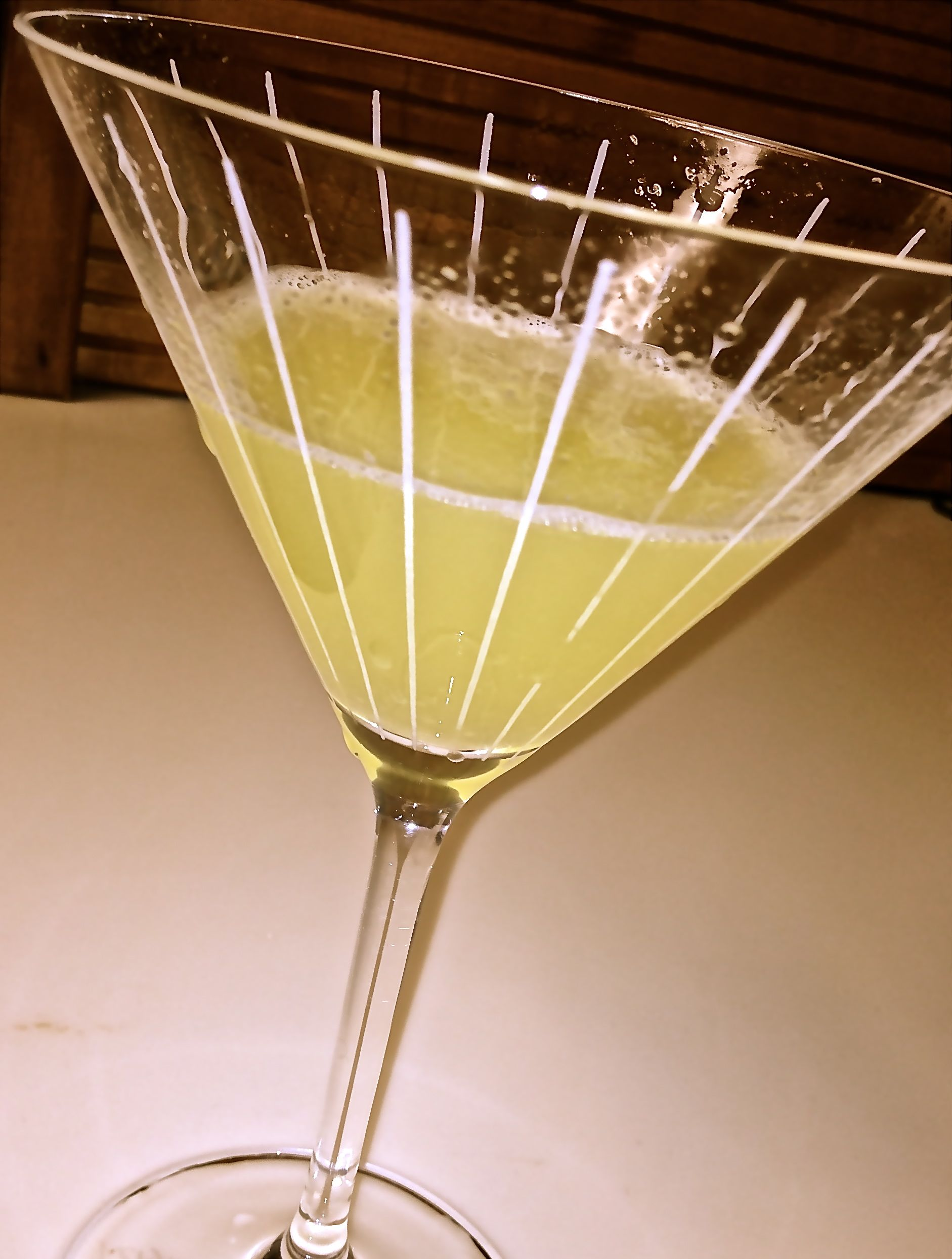 Refreshing, yet deceptively potent, Roger's Lemon Drop Martini helped us change course when our vacations plans were dealt a wallop by Superstorm Sandy.
