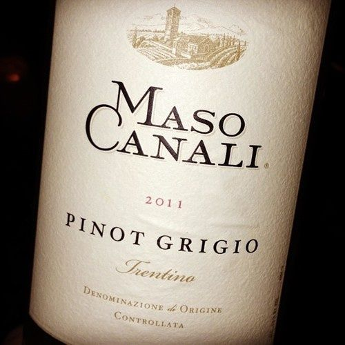 A dry, white Pinot Grigio from Maso Canali can be simmered in the risotto, and sipped along with it!