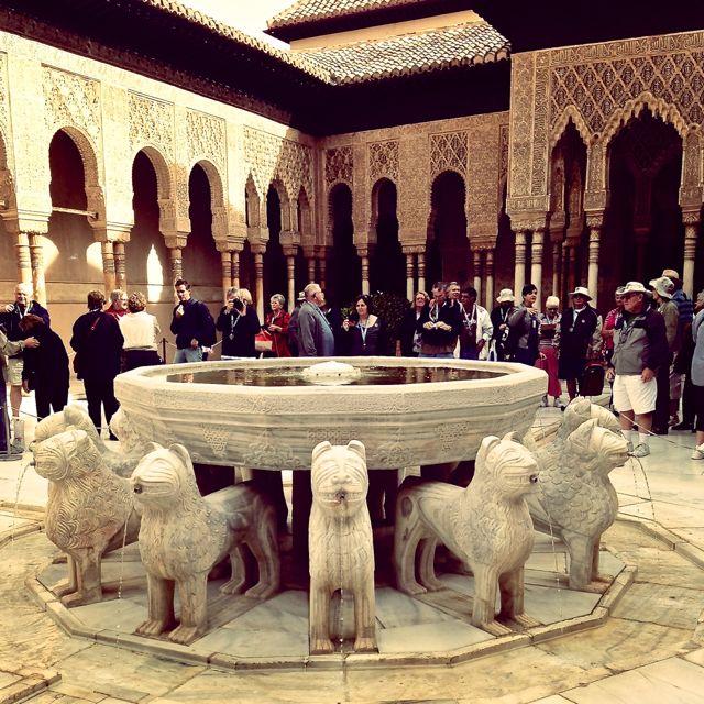 Patio des Leones at the Alhambra, Grenada, Spain