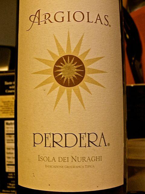 Argiolas Perdera Sardinian wine
