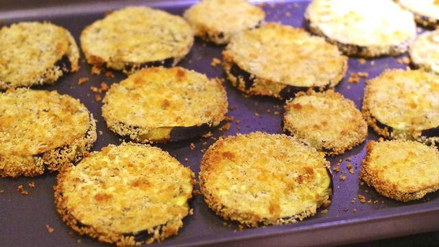 Baked Panko Breaded Eggplant