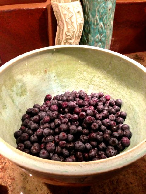 Fresh blueberries make a great crisp.