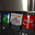 "Soda fountain ""Not a Winner"""