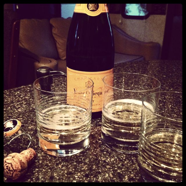 A Veuve Clicquot toast to the sale of a house. Emotional effects of moving on pets.