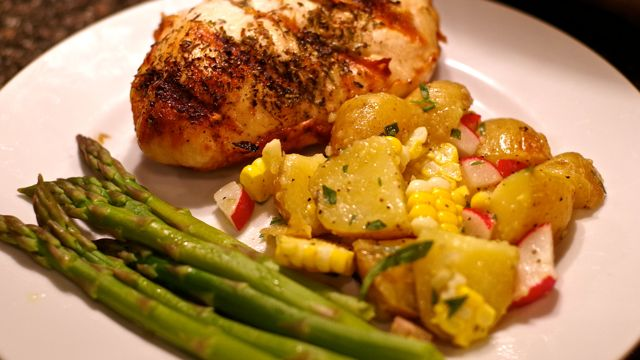 Grill Roasted Potato Salad