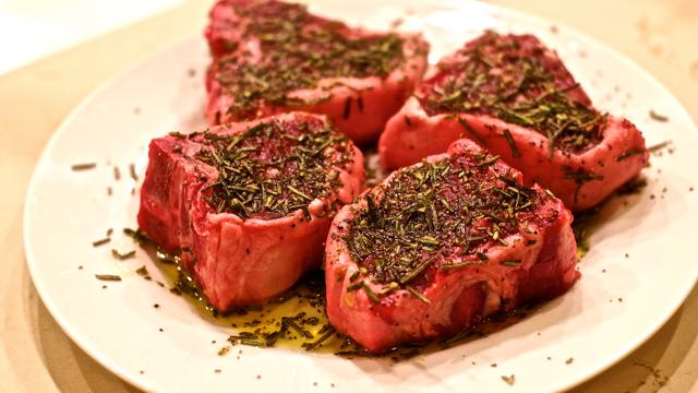Lamb Loin Chops with Rosemary Rub