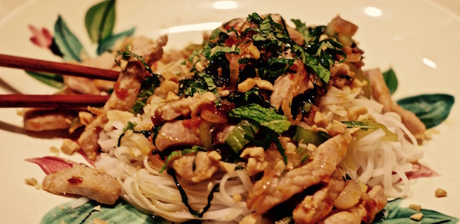 Asian Pork with Bok Choy and Mint