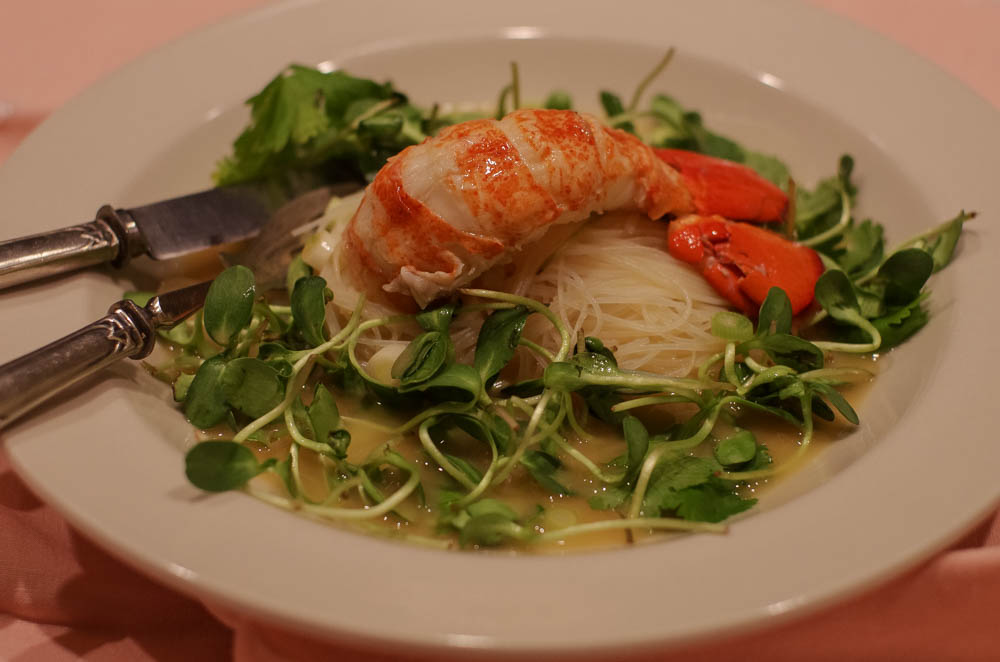Lobster with Candied Ginger Thai Beurre Blanc Sauce