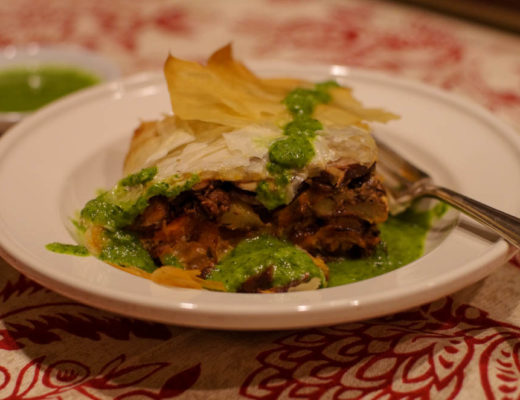 Lamb and Eggplant Phyllo Pie