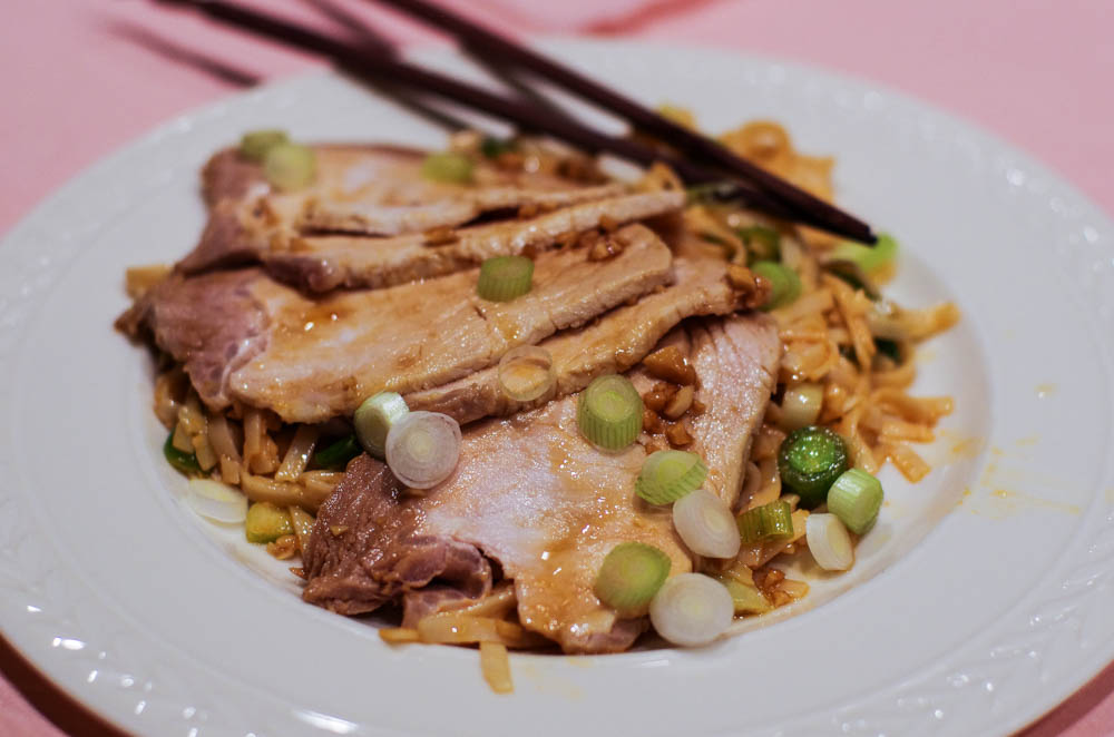 Cold Pork Loin with Asian Noodle Salad