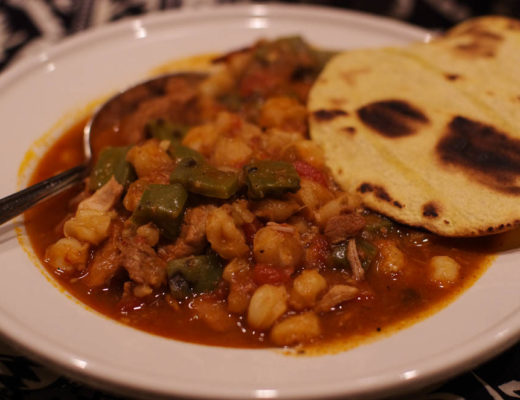 Pork Green Chile Posole Stew With Nopales