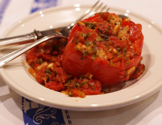 Lamb Stuffed Red Peppers