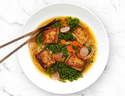 Crispy Tofu in Shiitake Miso Broth