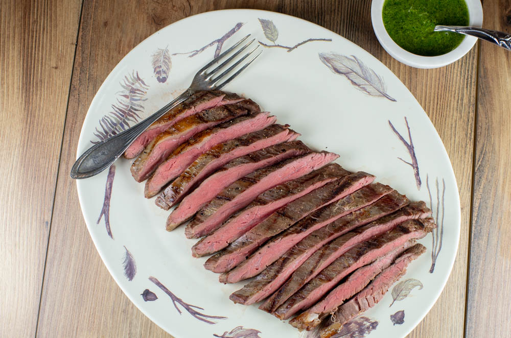 sous vide flank steak with basil pesto feeding the famished. Black Bedroom Furniture Sets. Home Design Ideas