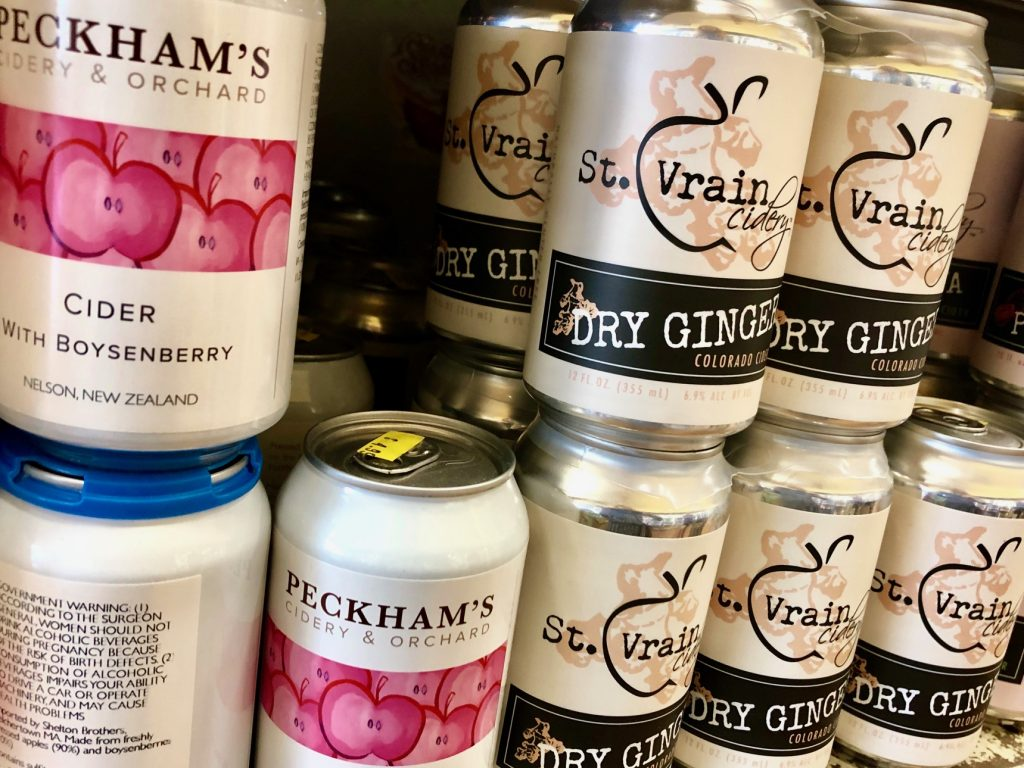 Peckham's Cider with Boysenberry and St. Vrain Cidery Dry Ginger