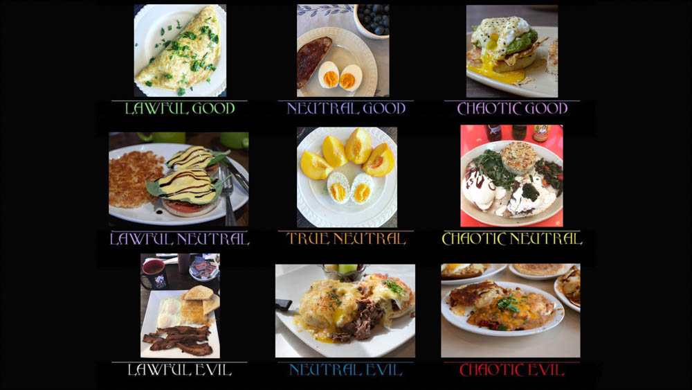 Dungeons & Dragons alignment with eggs