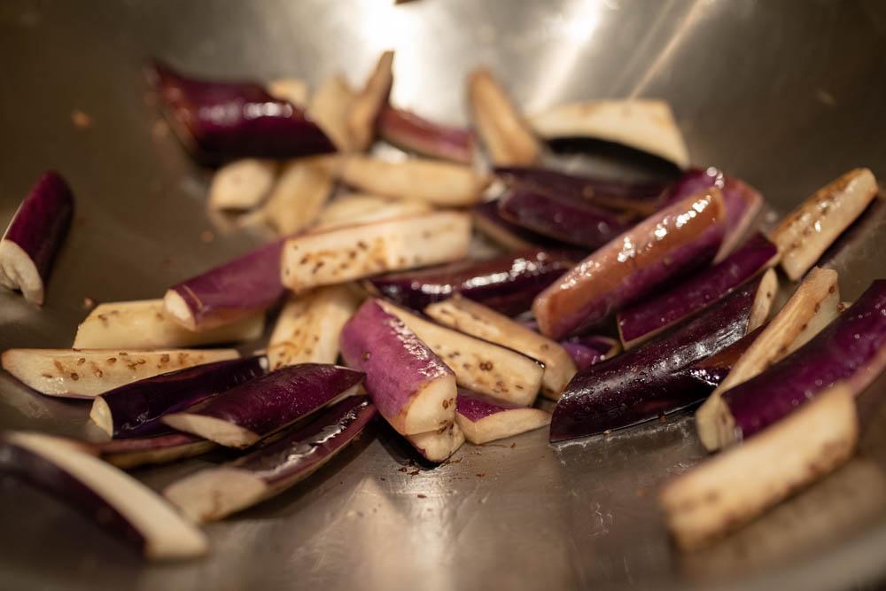 Szechuan pork with eggplant